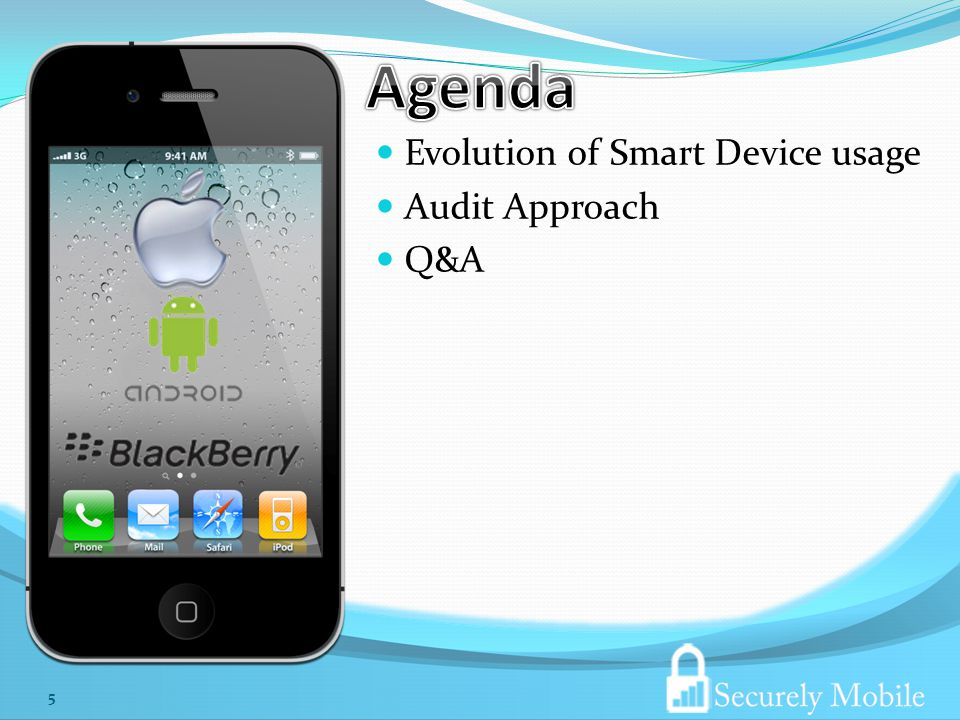 Evolution of Smart Device usage Audit Approach Q&A 5
