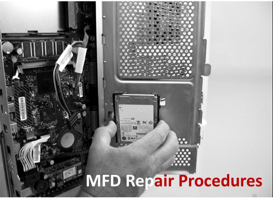 MFD Repair Procedures 26