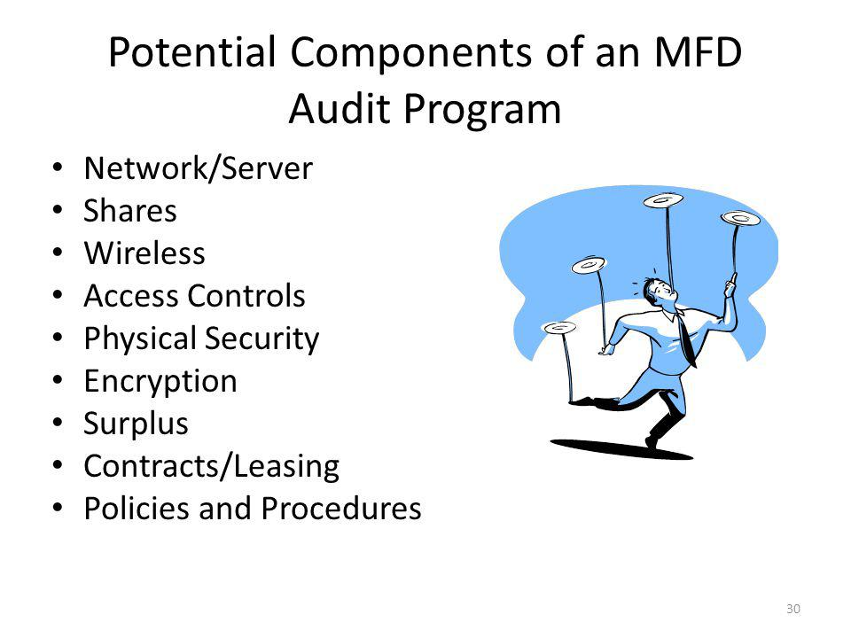 A Majority of Which Fall Into Your Normal IT Audit Program MFD Audit Program IT Audit Program 31