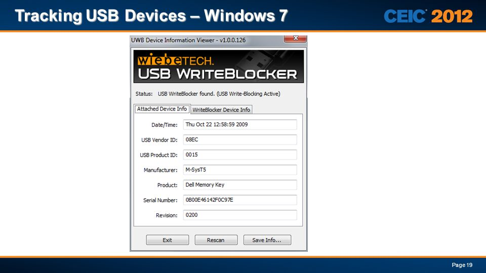 Tracking USB Devices – Windows 7 Page 19