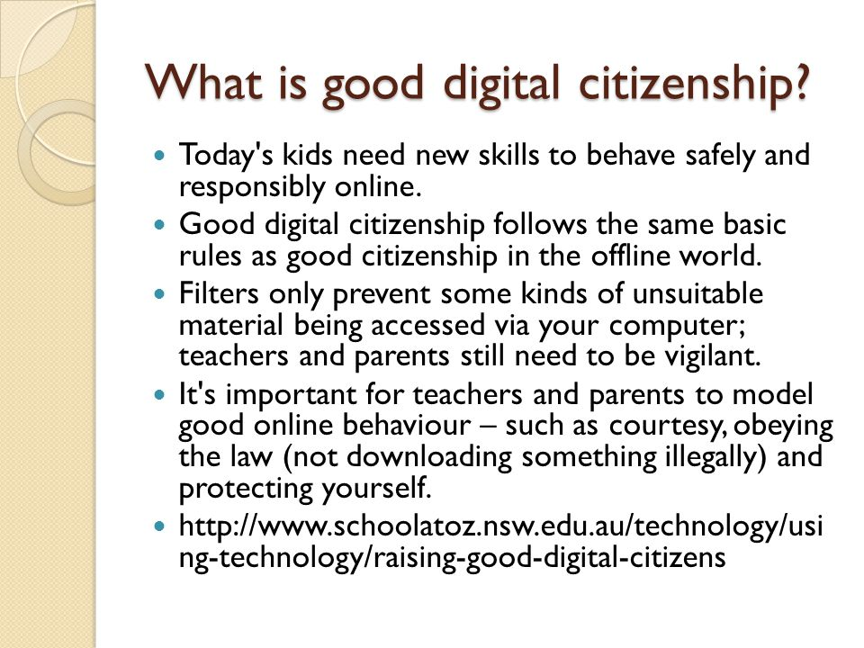 What is good digital citizenship.