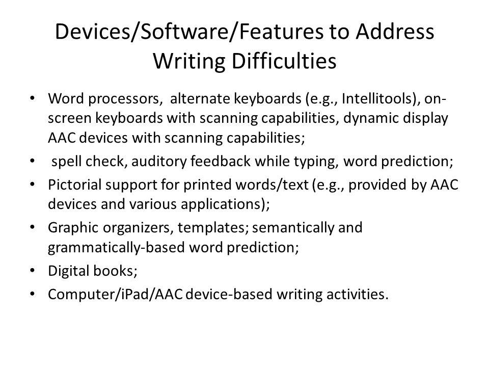 Facilitating Writing Skills via computer software (PixWriter)