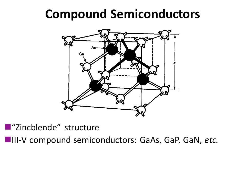 Compound Semiconductors Zincblende structure III-V compound semiconductors: GaAs, GaP, GaN, etc.