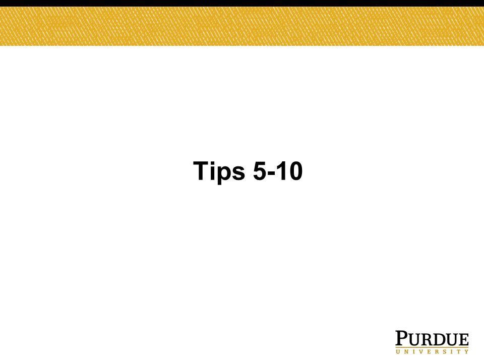 Tips 5-10