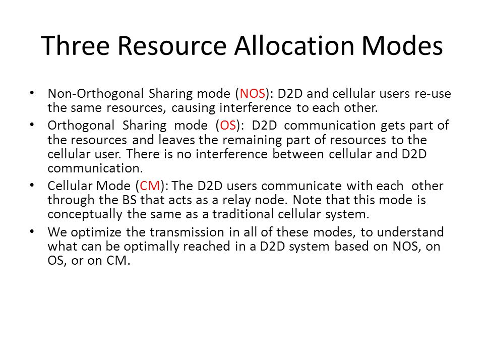 Resource Allocation Mode Selection