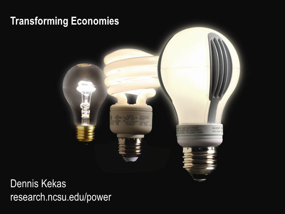 Transforming Economies Dennis Kekas research.ncsu.edu/power