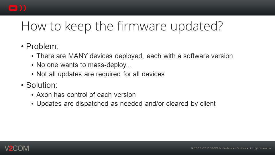 © 2002 - 2013 V2COM - Hardware + Software.All rights reserved How to debug in-device.
