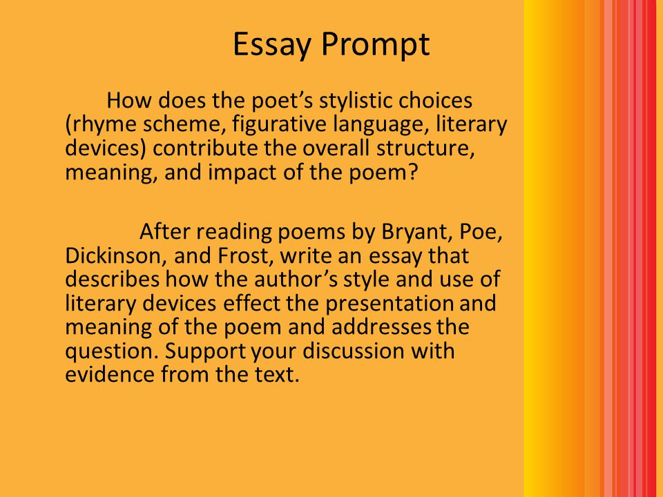 Before You Write Choose one poem to write about.Make sure you have all of the notes you need.