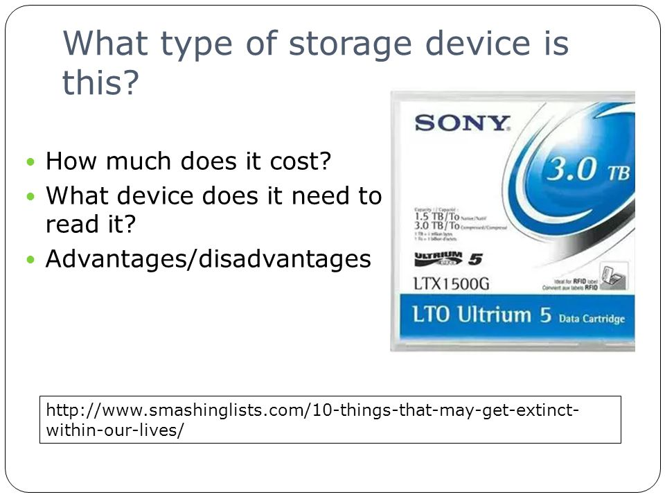 What type of storage device is this. How much does it cost.