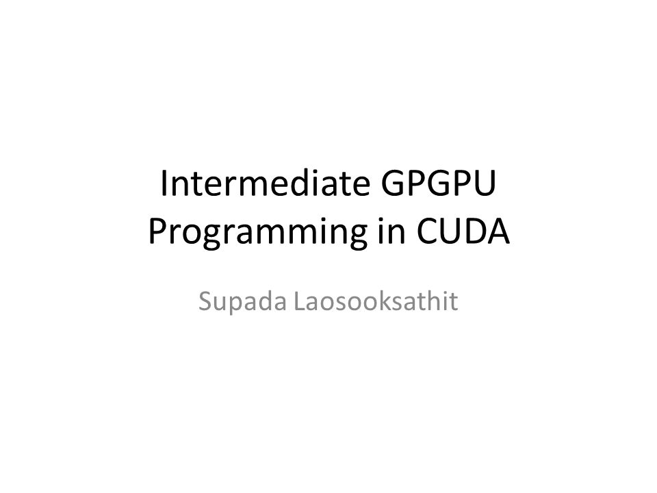 NVIDIA Hardware Architecture Host memory