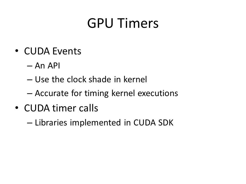 CUDA Events Example