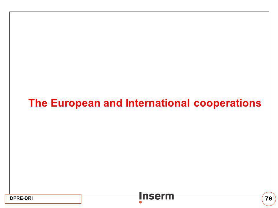DPRE-DRI 79 The European and International cooperations