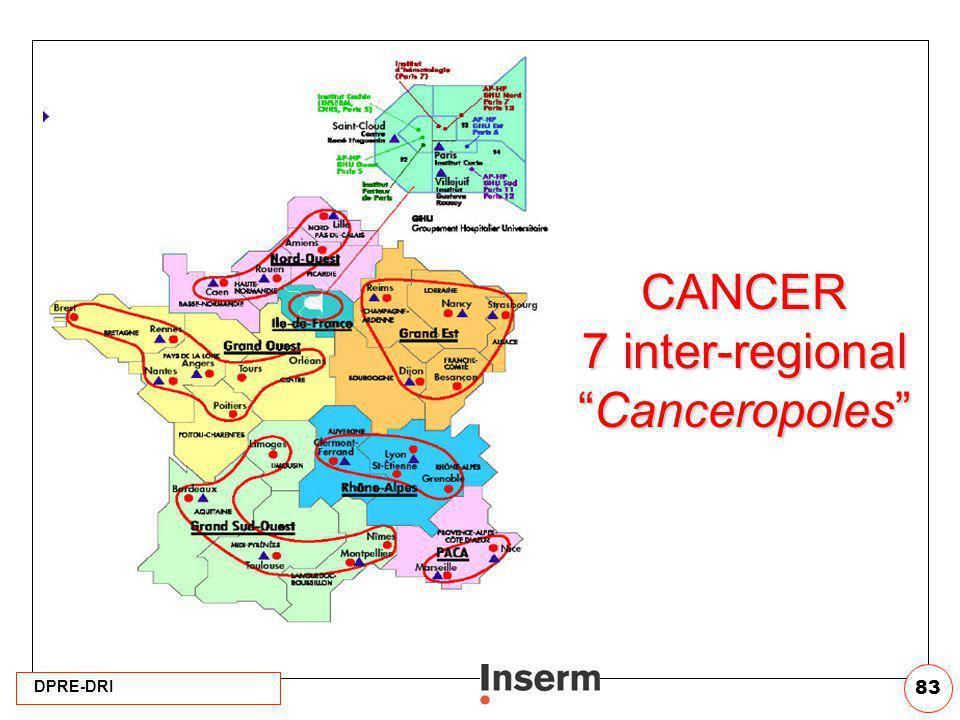 DPRE-DRI 83 CANCER 7 inter-regionalCanceropoles