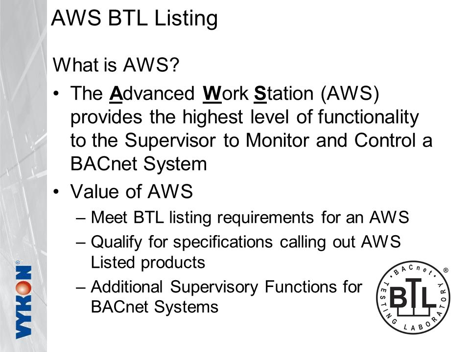 AWS BTL Listing What is AWS.