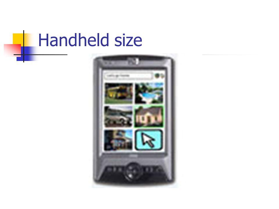 Handheld size
