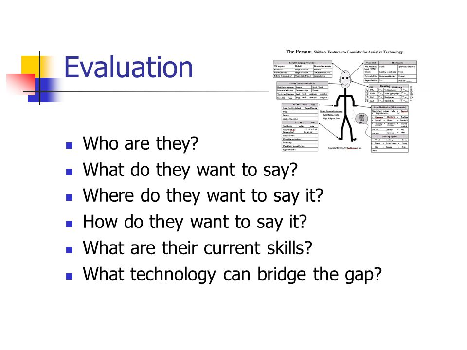 Evaluation Who are they.What do they want to say.