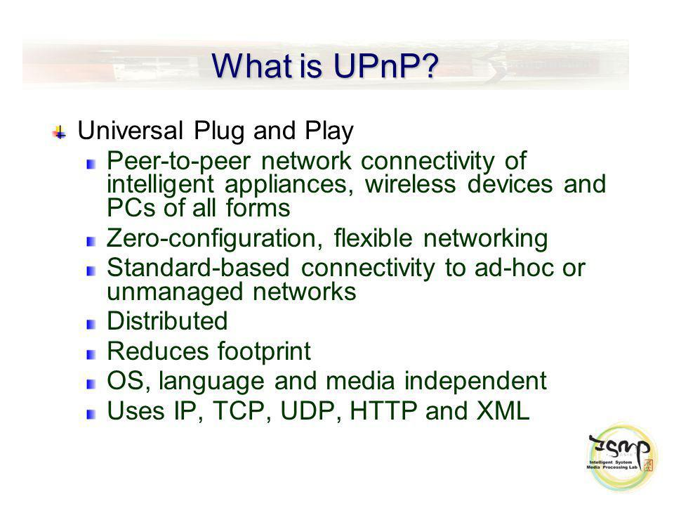 What is UPnP.