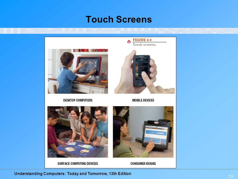 Understanding Computers: Today and Tomorrow, 13th Edition 13 Touch Screens