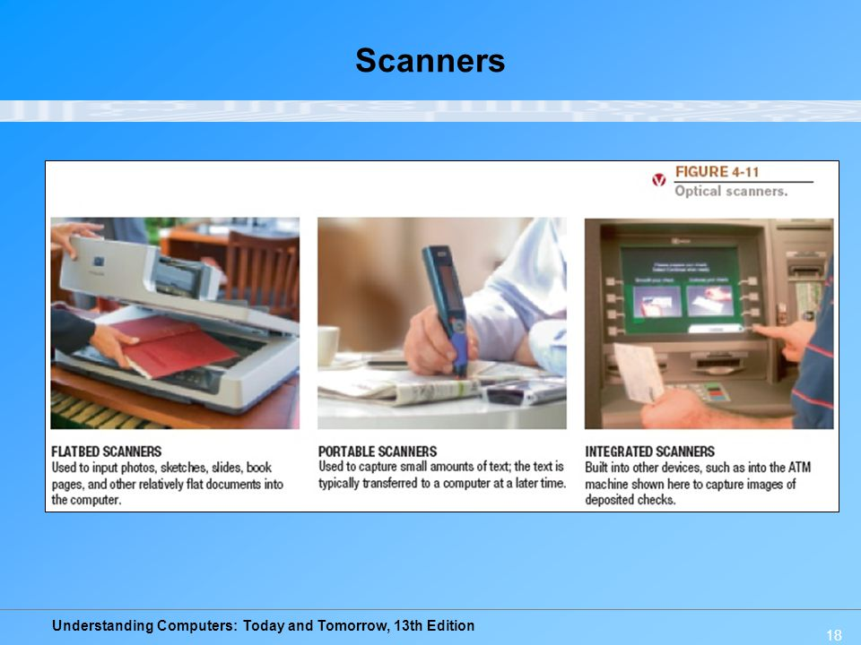 Understanding Computers: Today and Tomorrow, 13th Edition Scanners 18
