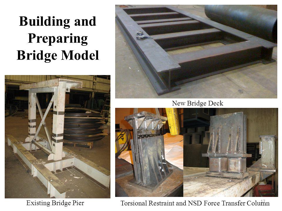 Building and Preparing Bridge Model 17 New Bridge Deck Torsional Restraint and NSD Force Transfer Column Existing Bridge Pier