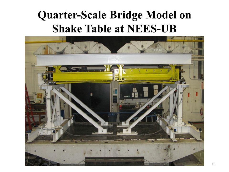 Quarter-Scale Bridge Model on Shake Table at NEES-UB 19