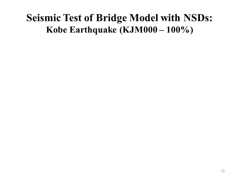 Seismic Test of Bridge Model with NSDs: Kobe Earthquake (KJM000 – 100%) 22