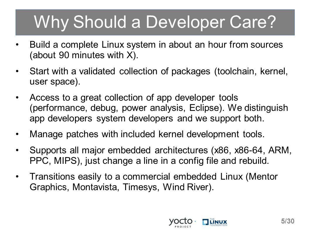 Why Should a Developer Care.