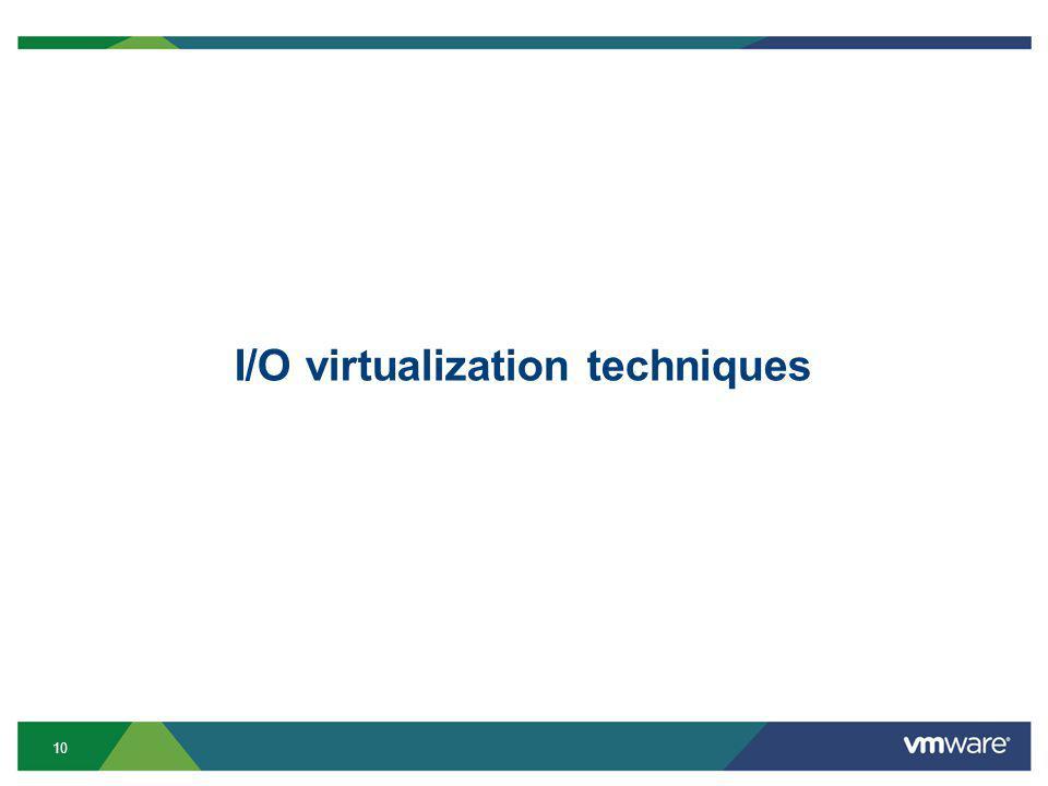 10 I/O virtualization techniques
