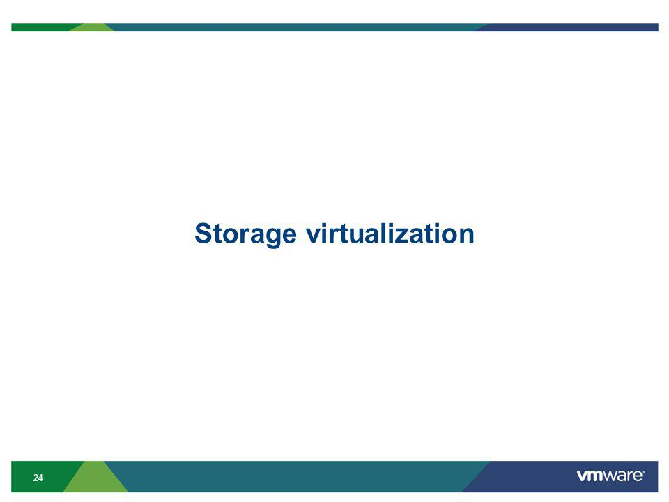 24 Storage virtualization
