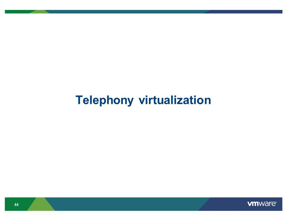 44 Telephony virtualization