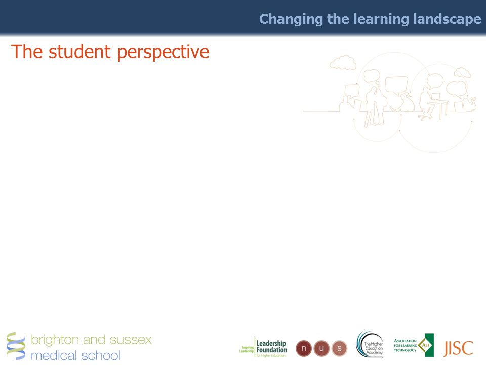 Changing the learning landscape The student perspective