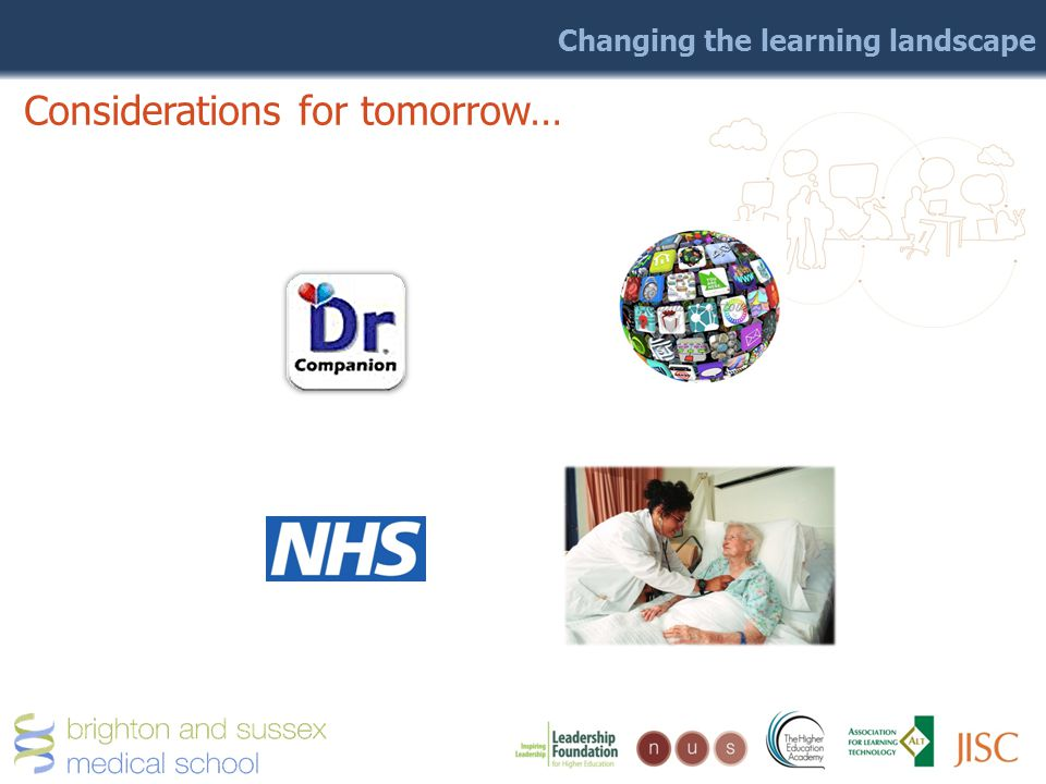 Changing the learning landscape Considerations for tomorrow…