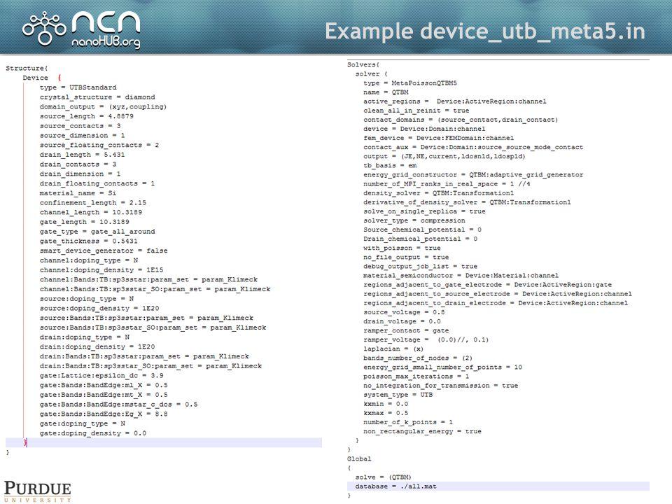 Example device_utb_meta5.in