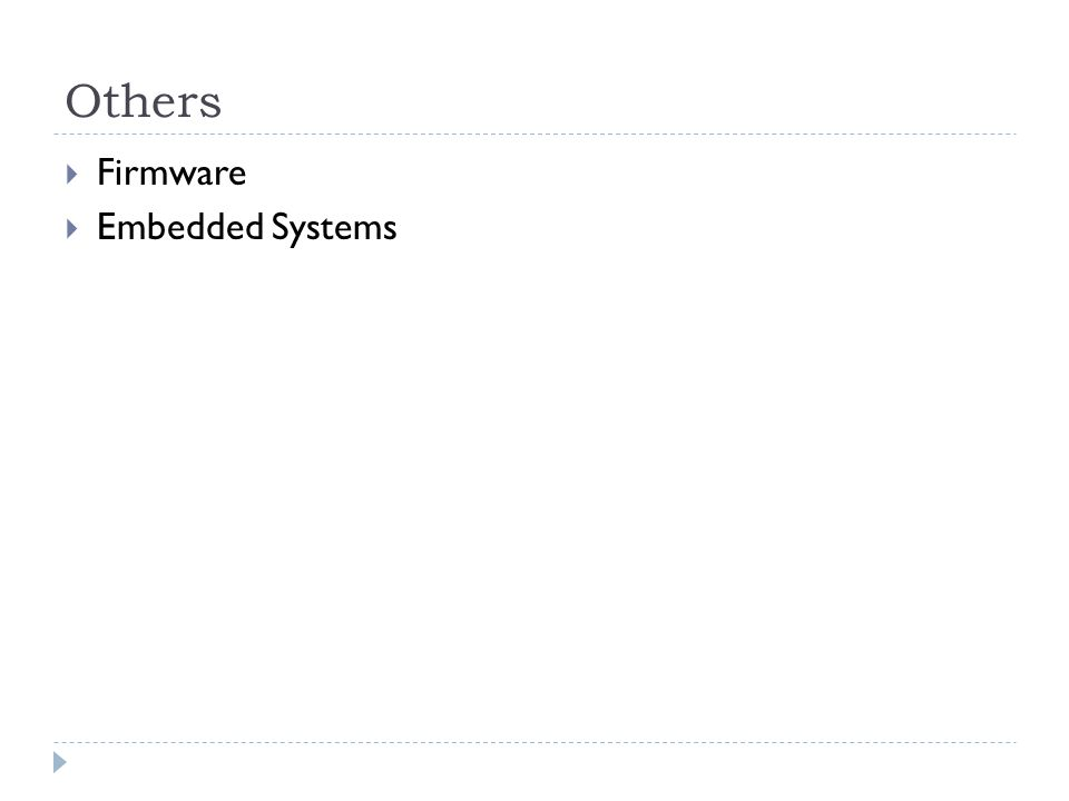 Others Firmware Embedded Systems