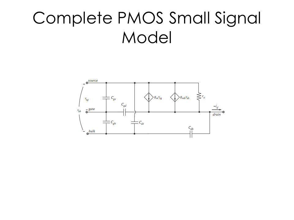 Complete PMOS Small Signal Model