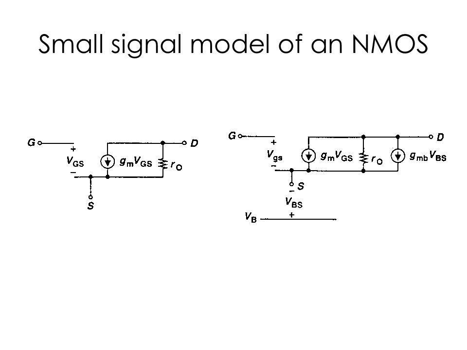 Small signal model of an NMOS