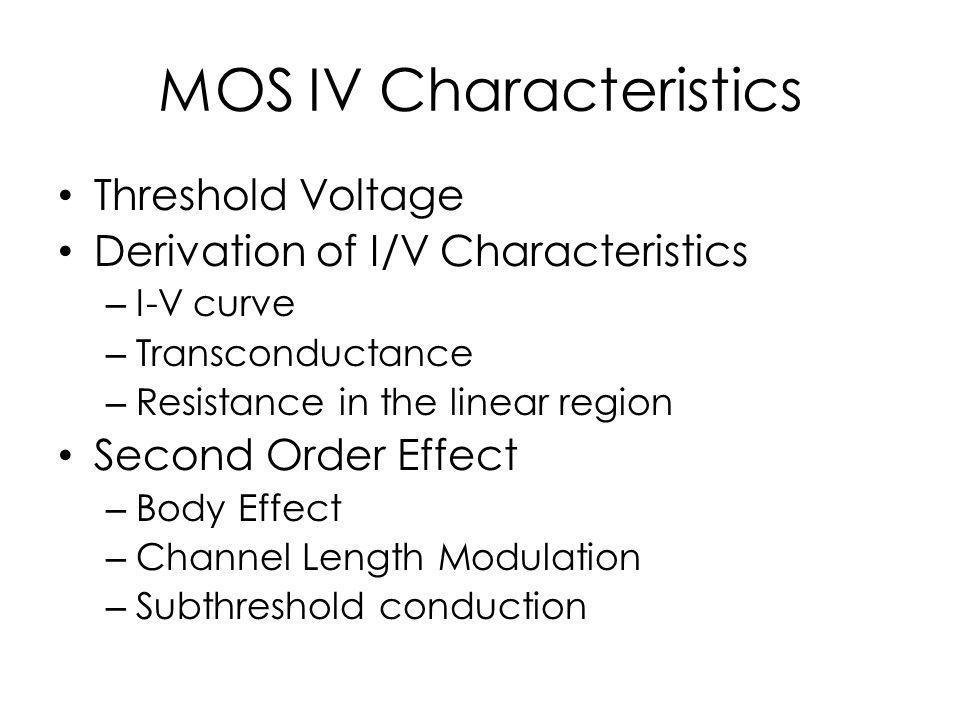 Threshold Voltage 1.