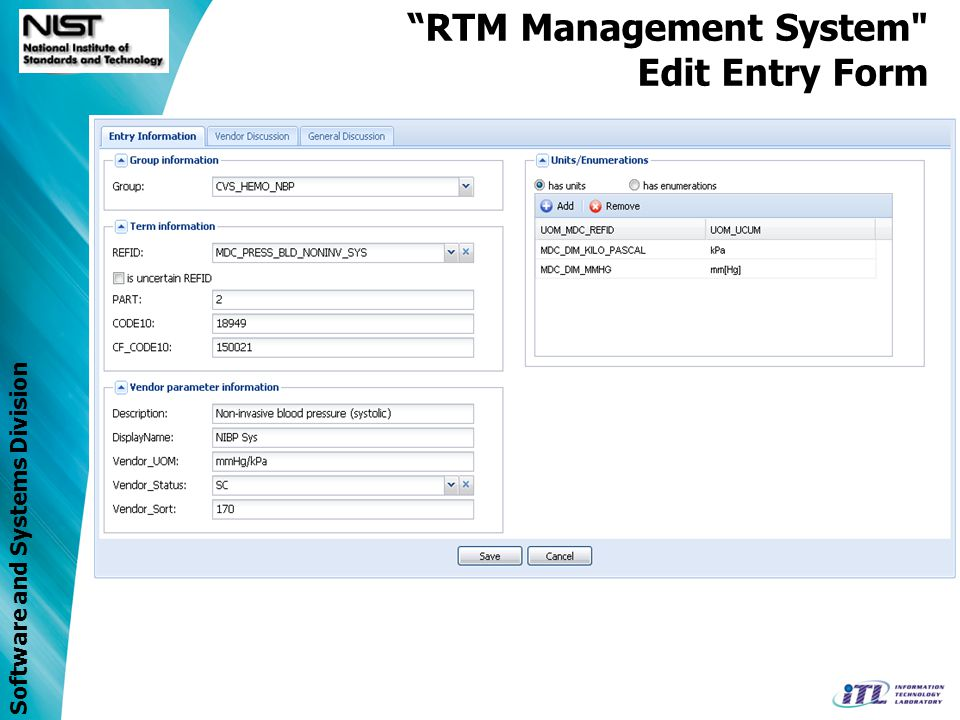 Software and Systems Division RTM Management System Add Comment Dialog