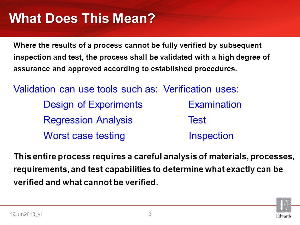 19Jun2013_v1 Why Process Validation is important.