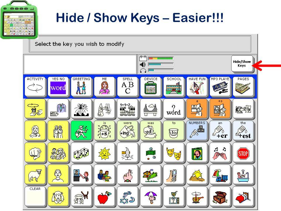 Hide / Show Keys – Easier!!!