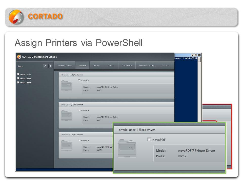 Assign Printers via PowerShell