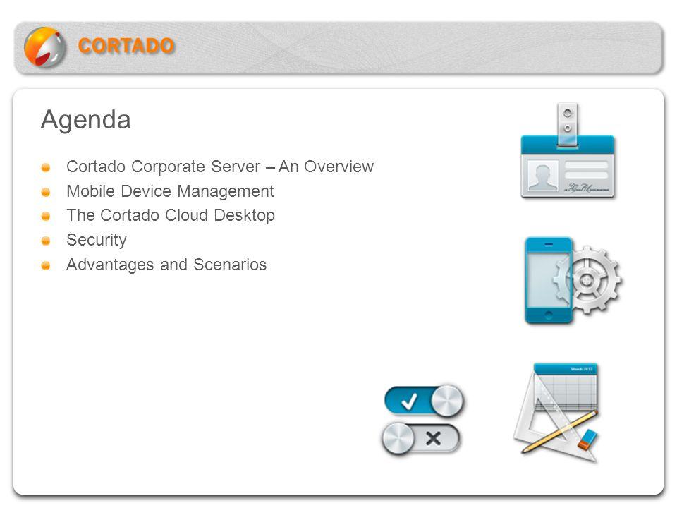 Agenda Cortado Corporate Server – An Overview Mobile Device Management The Cortado Cloud Desktop Security Advantages and Scenarios