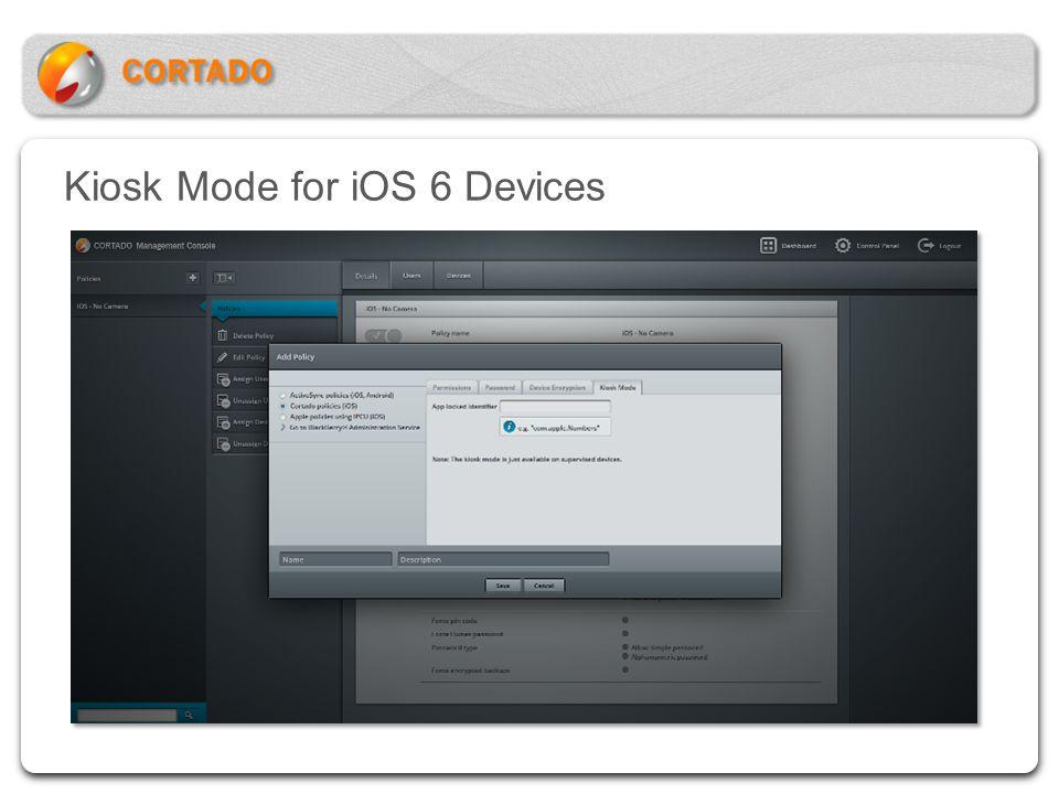 Kiosk Mode for iOS 6 Devices