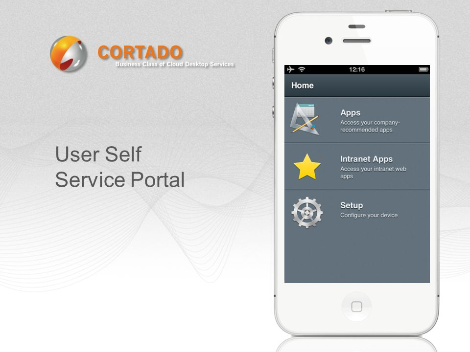 User Self Service Portal