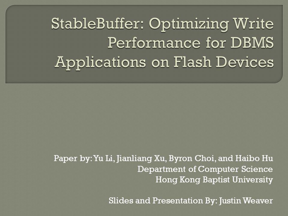 Paper by: Yu Li, Jianliang Xu, Byron Choi, and Haibo Hu Department of Computer Science Hong Kong Baptist University Slides and Presentation By: Justin Weaver