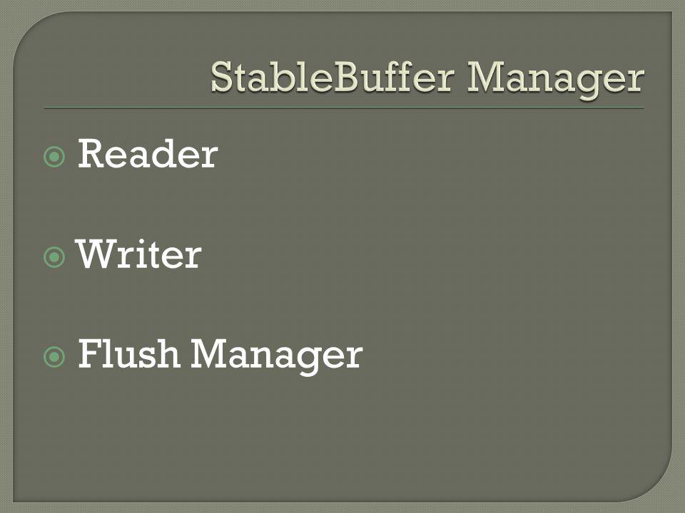 Reader Writer Flush Manager