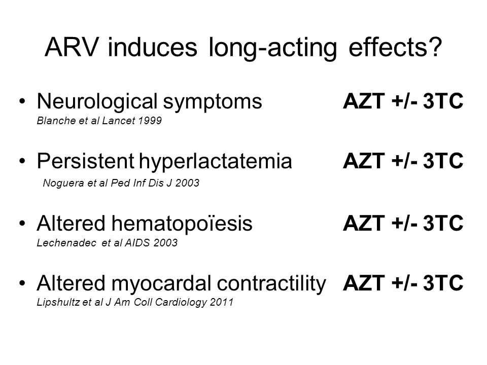 ARV induces long-acting effects.