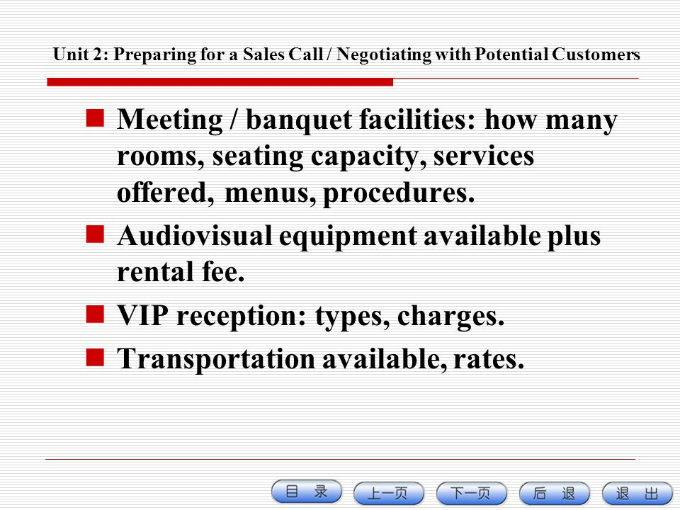 Meeting / banquet facilities: how many rooms, seating capacity, services offered, menus, procedures. Audiovisual equipment available plus rental fee.