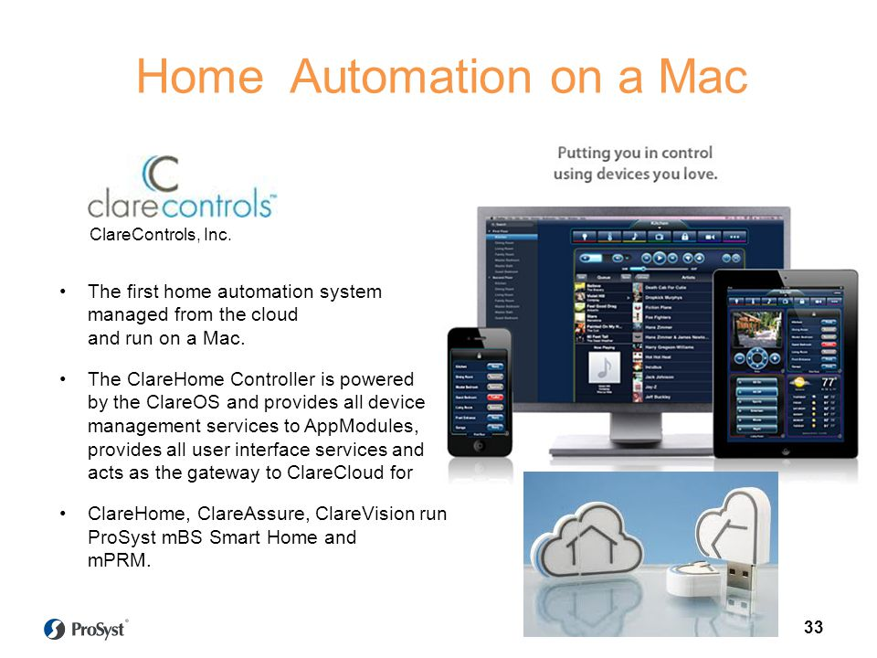 The first home automation system managed from the cloud and run on a Mac.