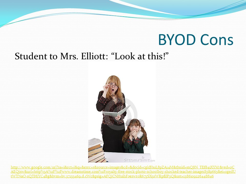 BYOD Cons Student to Mrs. Elliott: Look at this.